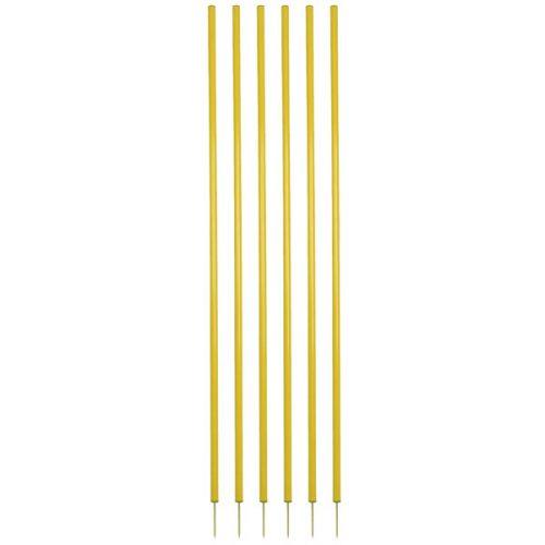 Champion Sports CS6YL Coaching Stick Set Yellow - Set of 6