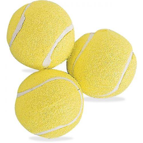 Champion Sports CSITB3 Rubber Tennis Balls Yellow - Pack of 3