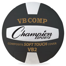 Champion Sports CSIVB2BK Official Size Volleyball