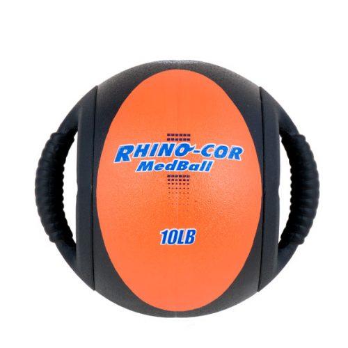 Champion Sports CXB10 10 lbs Rhino-Cor Medicine Ball Orange