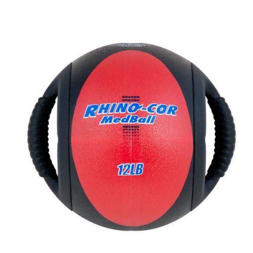 Champion Sports CXB12 12 lbs Rhino-Cor Medicine Ball Red