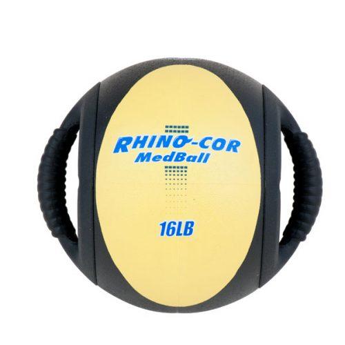 Champion Sports CXB16 16 lbs Rhino-Cor Medicine Ball Yellow