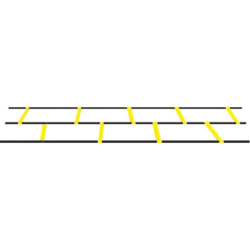 Champion Sports DAGL Adjustable Double Agility Ladder Yellow & Black