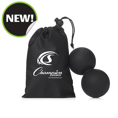 Champion Sports DLMB Peanut Massage Balls Black