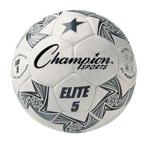 Champion Sports ELITE5 Elite Soccer Ball White & Black - Size 5