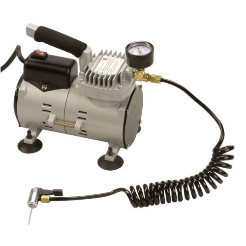 Champion Sports EP6000 Ultra Quiet Air Compressor Grey & Black