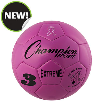 Champion Sports EX3PK 7.25 in. Extreme Series Size 3 Soccer Ball Pink