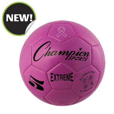 Champion Sports EX5PK 8.75 in. Extreme Series Size 5 Soccer Ball Pink
