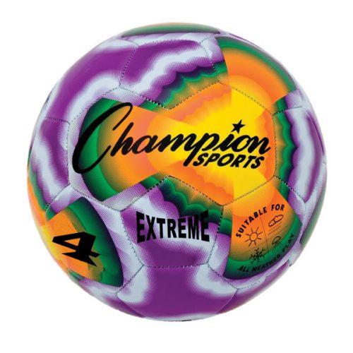 Champion Sports EXTD4 Extreme Tie Dye Soccer Ball - Size 4