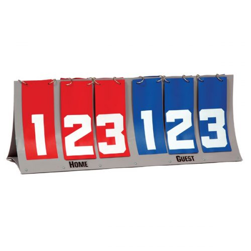 Champion Sports FAS6 Deluxe Tabletop Scorer 3 Red & 3 Royal Blue