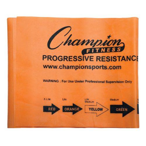 Champion Sports FB4O 4 ft. Therapy & Exercise Flat Band Orange - Light