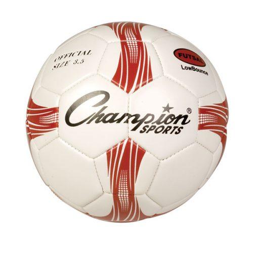 Champion Sports FTS3 Futsal Soccer Ball Red & White & Black - Size 4
