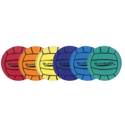 Champion Sports FVBSET Ultra Foam Volleyball Set Multicolor - Set of 6