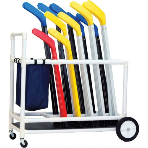 Champion Sports HOCKH Deluxe ABS Floor Hockey Cart White