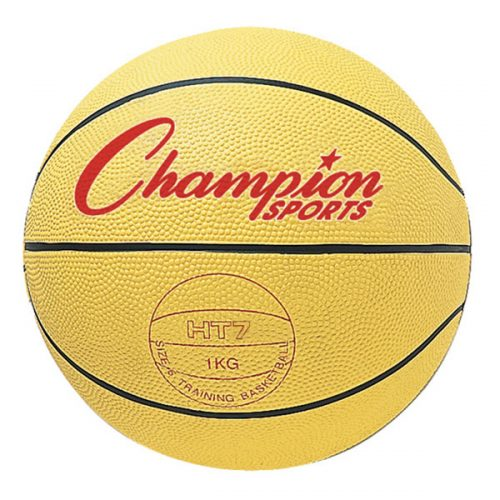 Champion Sports HT74 29.5 in. Weighted Basketball Trainer Yellow - 4.5 lbs