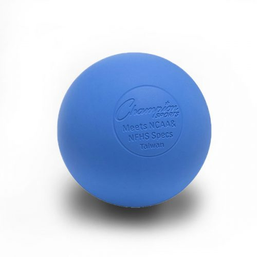 Champion Sports LBB 2.5 in. Official Lacrosse Ball Royal Blue - Pack of 12