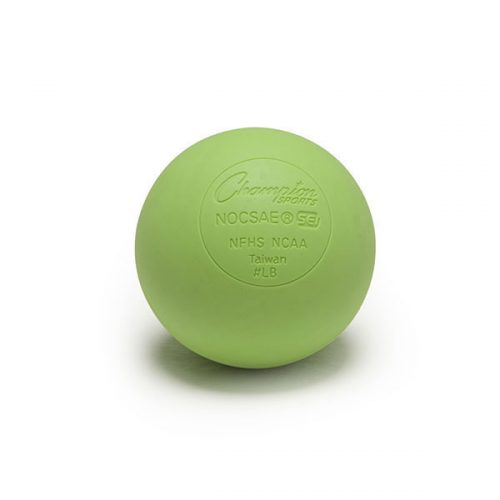 Champion Sports LBG 2.5 in. Official Lacrosse Ball Lime Green - Pack of 12