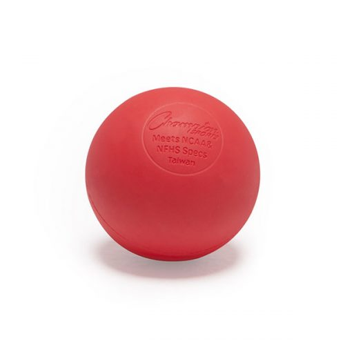 Champion Sports LBR 2.5 in. Official Lacrosse Ball Red - Pack of 12