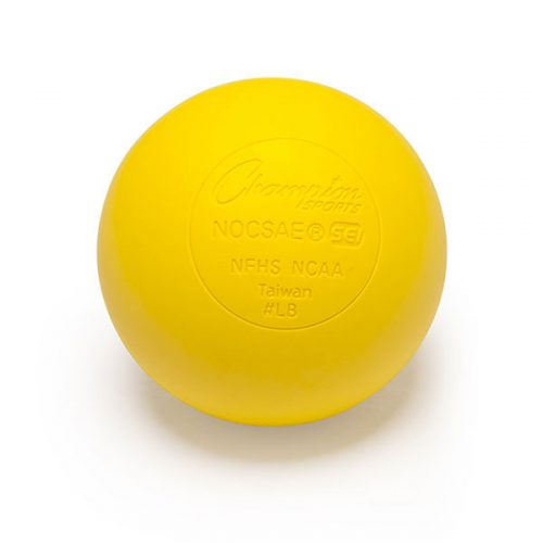 Champion Sports LBYNOCSAE 2.5 in. Official Lacrosse Ball Yellow
