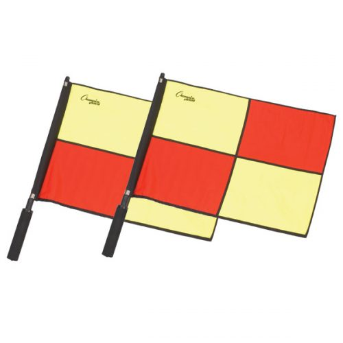 Champion Sports LFPRO Official Checkered Flag with Border Red & Yellow