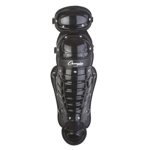 Champion Sports LG83AWBK 13 in. Double Knee Shinguard with Wings Black