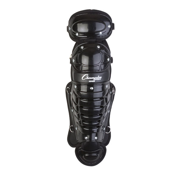Champion Sports LG84AWBK 11 in. Double Knee Shinguard with Wings Black