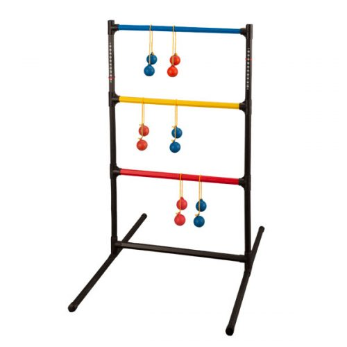 Champion Sports LGSTSET Ladder Ball Golf Game Set Red & Royal Blue & Black