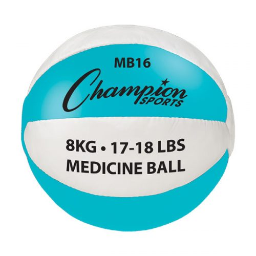 Champion Sports MB16 17-18 lbs Leather Teal & White