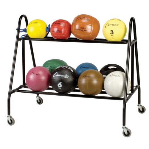 Champion Sports MBR4 Medicine Ball Storage Cart Black