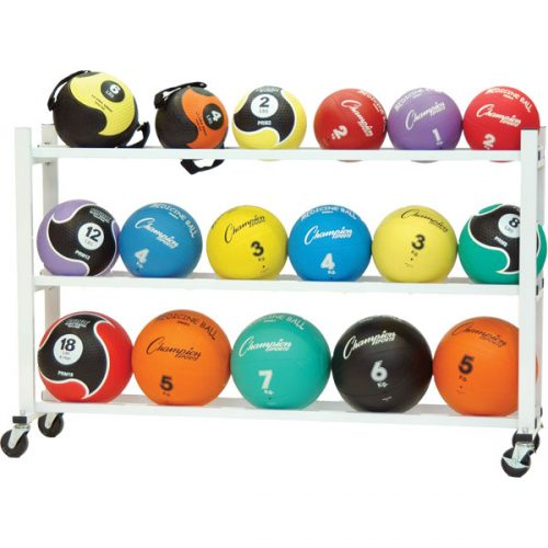 Champion Sports MBR5 Deluxe Medicine Ball Cart White