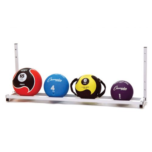 Champion Sports MBR6 Wall Mount Medicine Ball Rack White