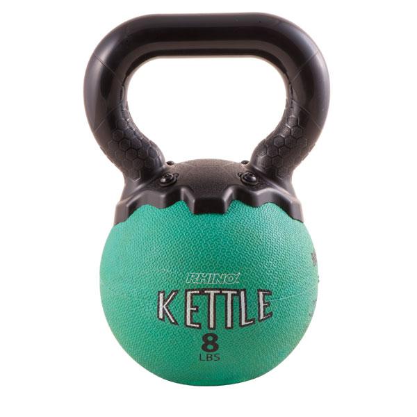 Champion Sports MKB8 8 lbs Mini Rhino Kettle Bell Green