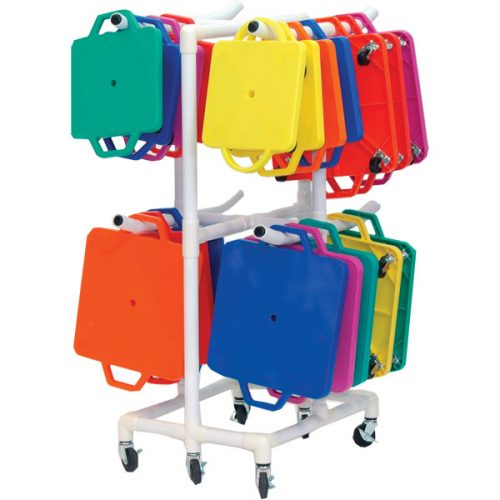 Champion Sports MSCART Scooter ABS Storage Cart White