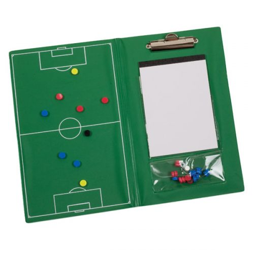 Champion Sports MSCB Magnetic Soccer Clipboard Set Green
