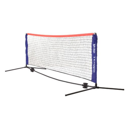 Champion Sports MTNSET Mini Tennis Net Set Blue & Black
