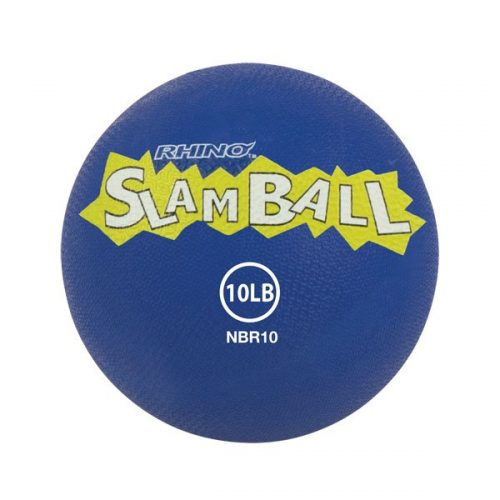 Champion Sports NBR10 10 lbs Rhino Slam Ball Blue