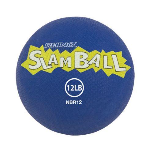 Champion Sports NBR12 12 lbs Rhino Slam Ball Blue