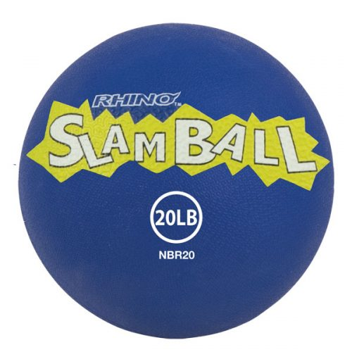Champion Sports NBR20 20 lbs Rhino Slam Ball Blue