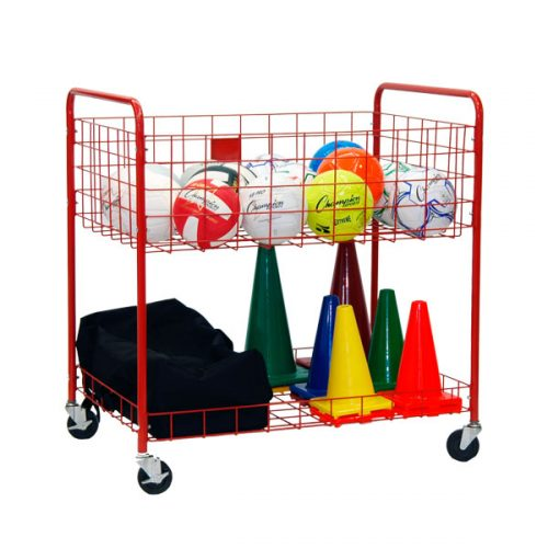 Champion Sports OCLX Back Ease Storage Cart Red