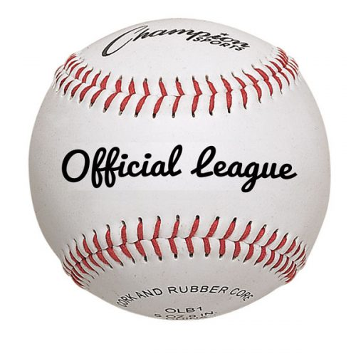 Champion Sports OLB1 3 in. Premium Leather Official League Baseball White & Red - Pack of 12