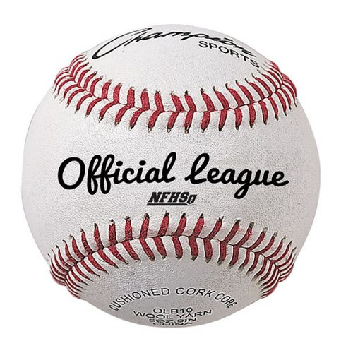 Champion Sports OLB10 3 in. NFHS Leather Official League Baseball White & Red - Pack of 12