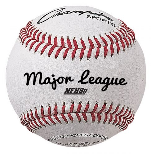 Champion Sports OLBPRO 3 in. Major League Baseball White & Red - Pack of 12