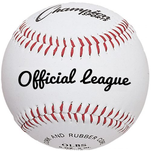 Champion Sports OLBS 3 in. Syntex Leather Official League Baseball White & Red - Pack of 12
