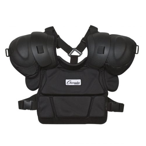 Champion Sports P190 12 in. Pro Style Low Rebound Foam Umpires Chest Protector Black