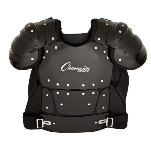 Champion Sports P200 17 in. Outside Plastic Shield Professional Umpire Chest Protector Black