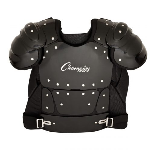 Champion Sports P210 15 in. Outside Plastic Shield Professional Umpire Chest Protector Black