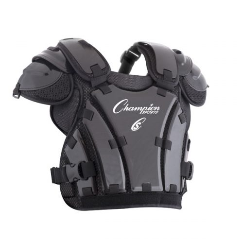 Champion Sports P235 14.5 in. Armor Style Chest Protector Black