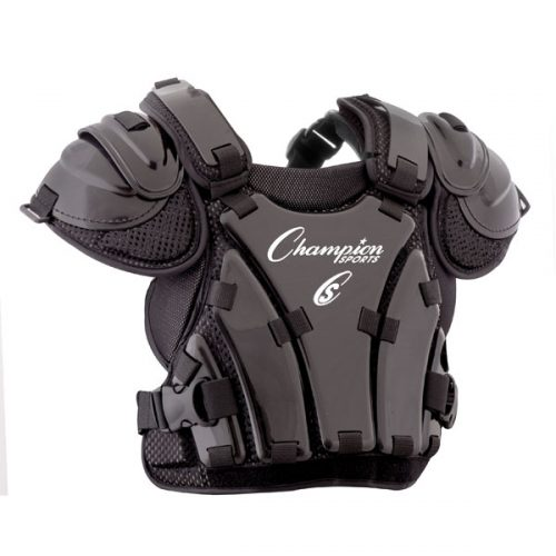 Champion Sports P240 13 in. Armor Style Chest Protector Black