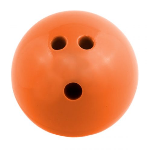 Champion Sports PB3 3 lbs Plastic Rubberized Bowling Ball Orange