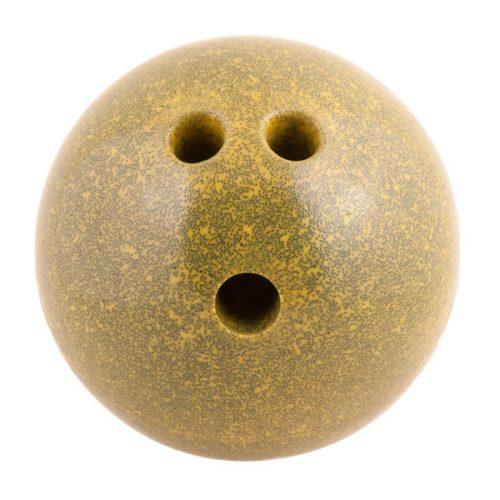 Champion Sports PB5 5 lbs Plastic Rubberized Bowling Ball Yellow
